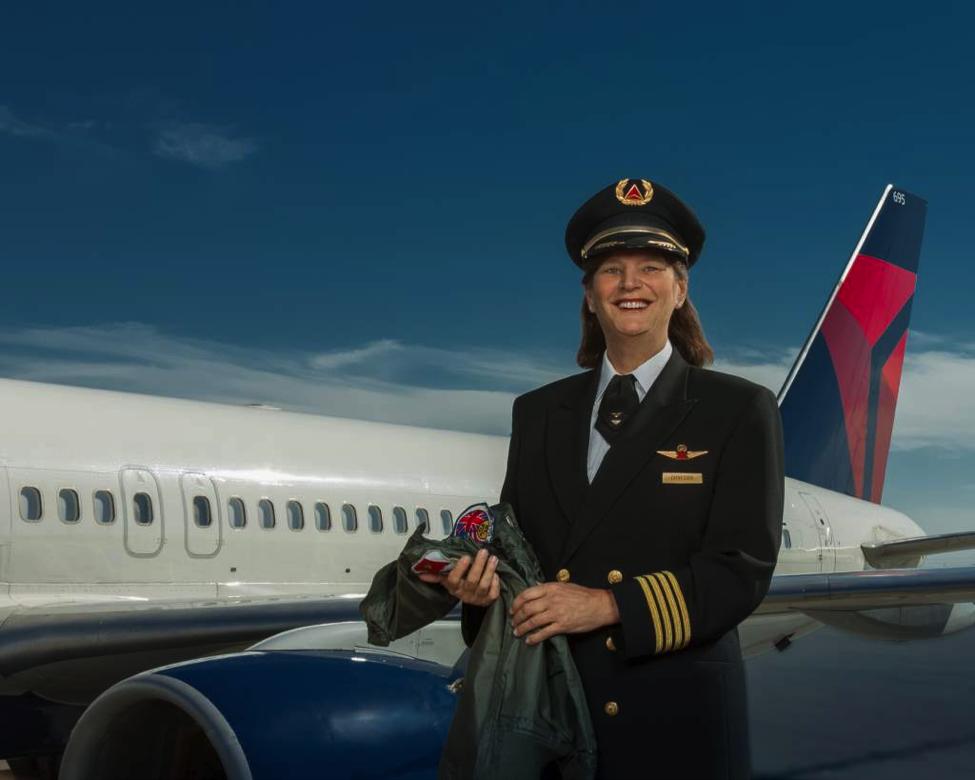 DELTA AIRLINES POST VET- Sent to you from Sierra Flight 27. We are Proud! Frasier Fortner, Flight Captain