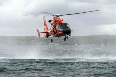 Last MH-65 helicopter to depart Air Station Traverse City