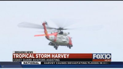 Coast Guard ATC Mobile assisting with Harvey search & rescue