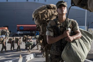 U.S. military preparations for Hurricane Irma now include four Navy ships and thousands of troops