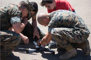 Marines' 3D-Printed 'Nibbler' Drone Creating Lessons Learned on Logistics, Counter-UAS