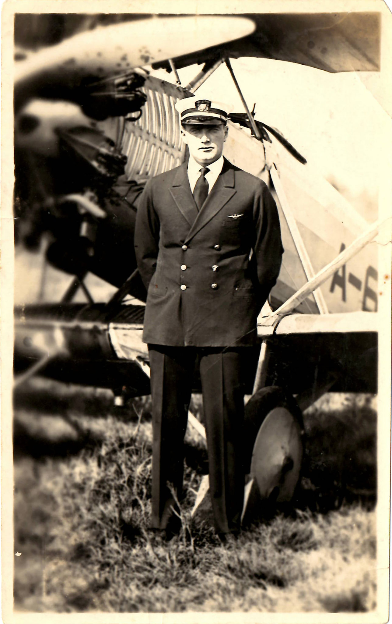 John A. Hilger, who retired as a brigadier general in 1966, is shown as a  flying cadet at Army Air Corps flying school in 1933.