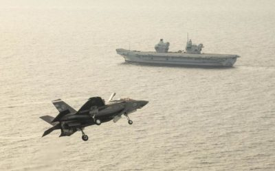 A US Marine F-35 Squadron Will Deploy on a British Aircraft Carrier in 2021