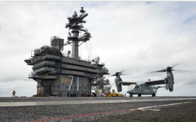 Navy Flyers Training With Marine V-22s Ahead of COD Transition